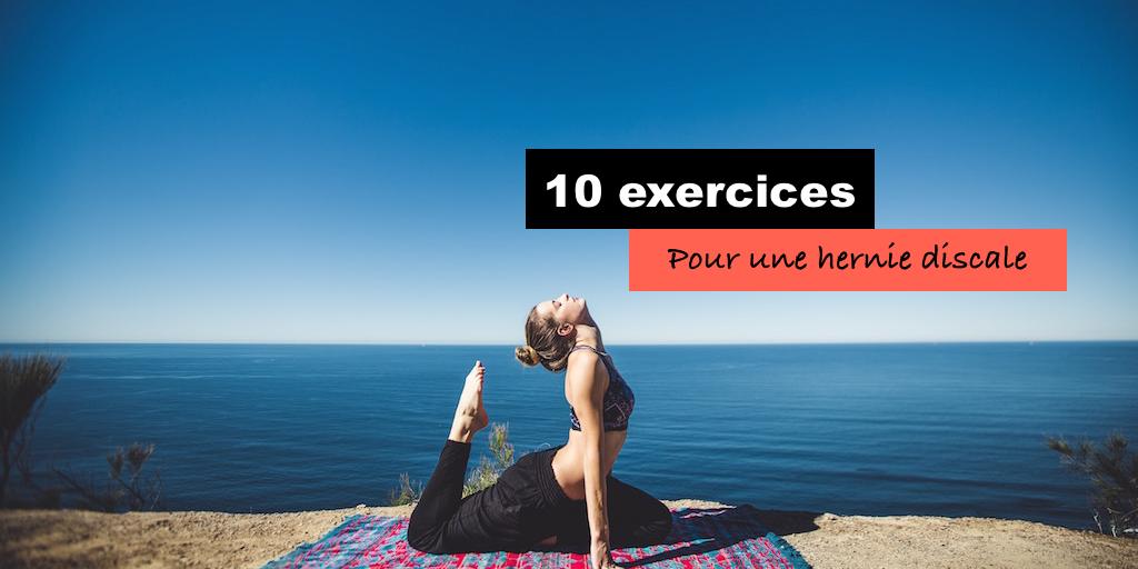 10 exercices pour une hernie discale