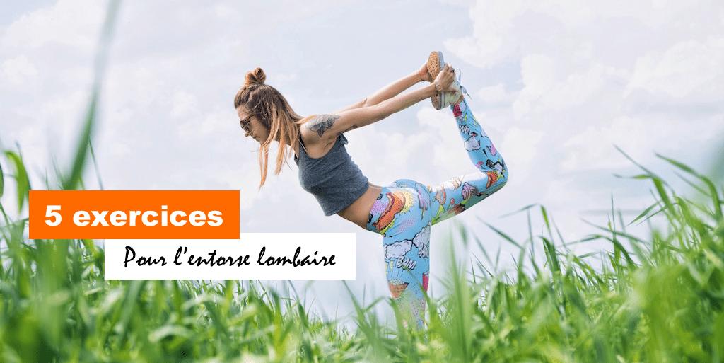 5 exercices pour entorse lombaire