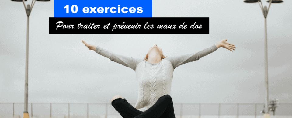 Exercices pour mal de dos
