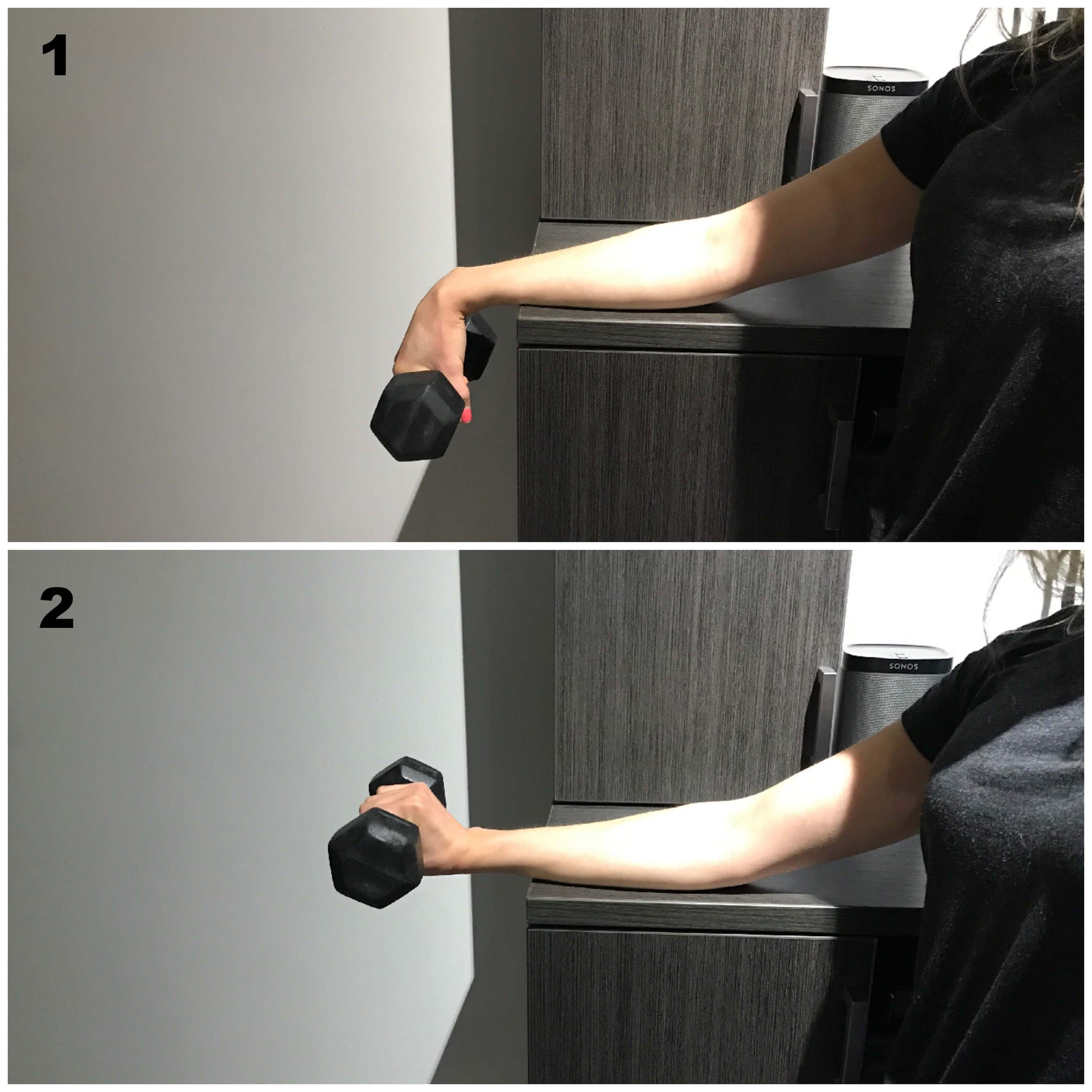 Force concentrique extenseurs pour epitrochleite