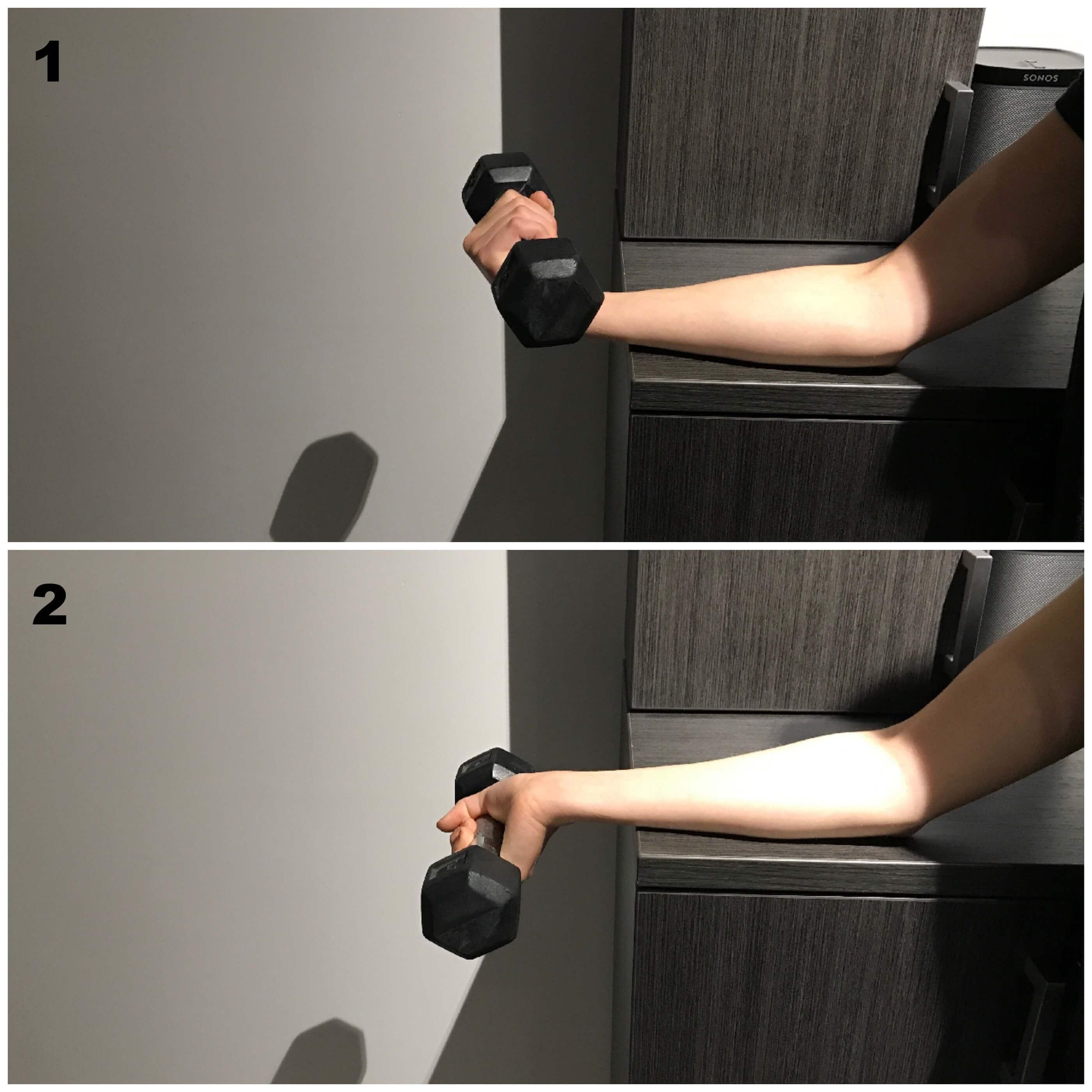 5 exercices simples pour soulager une pitrochl ite golfers elbow dr michael desbiens. Black Bedroom Furniture Sets. Home Design Ideas
