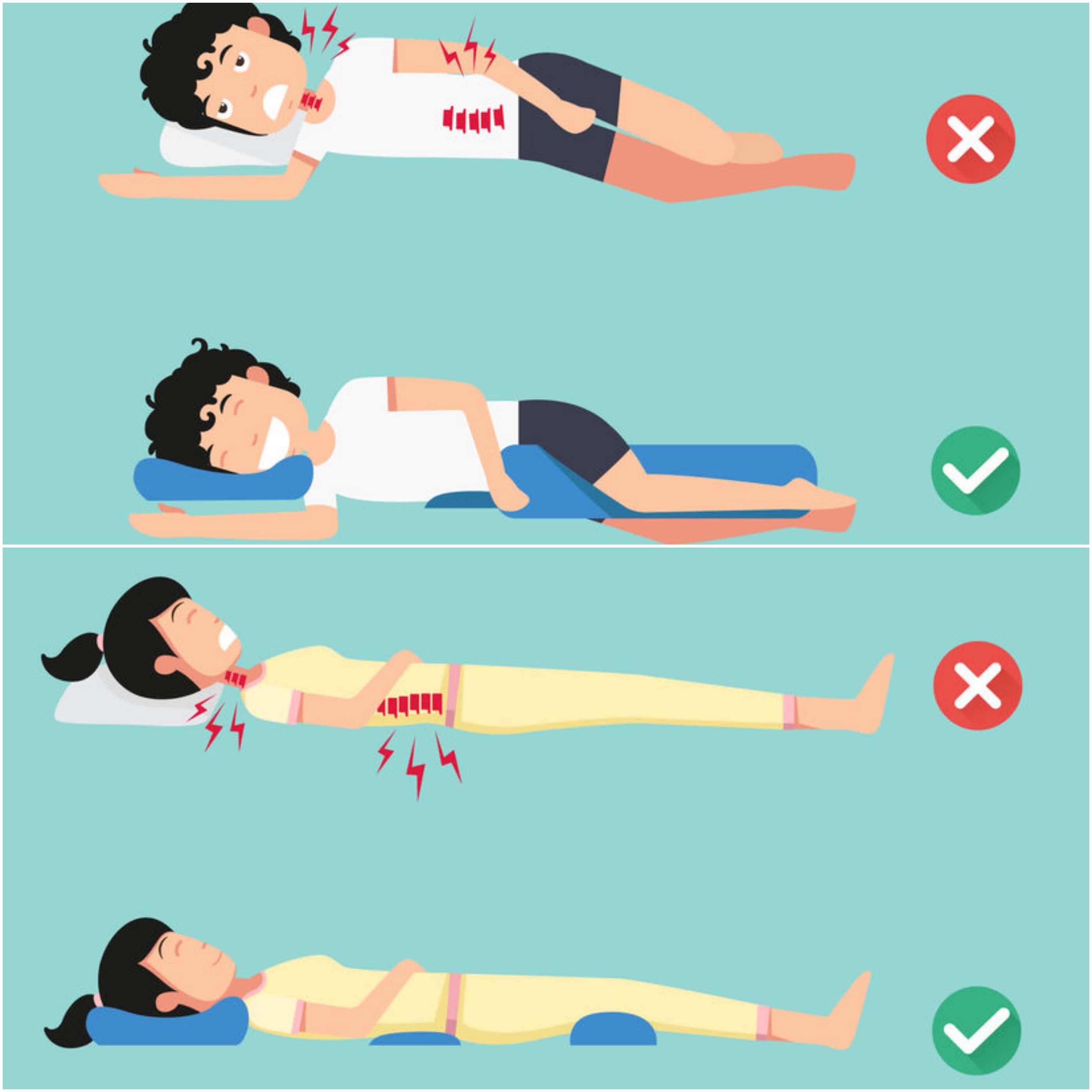 Entorse lombaire posture sommeil